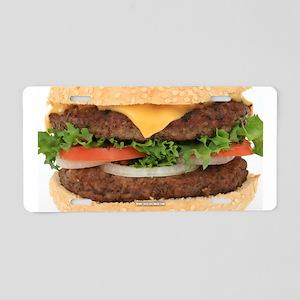 Hamburger Aluminum License Plate