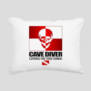 Cave Diver (Skull) Rectangular Canvas Pillow