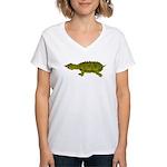 Matamata Turtle Amazon River Women's V-Neck T-Shir