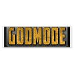 Godmode Title Bumper Sticker