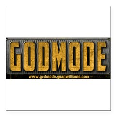 Godmode Title Square Car Magnet 3