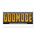 Godmode Title Rectangle Car Magnet