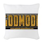 Godmode Title Woven Throw Pillow