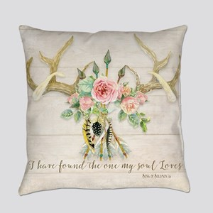 BOHO Bohemian Deer Antler Arrows F Everyday Pillow