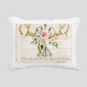 BOHO Bohemian Deer Antle Rectangular Canvas Pillow