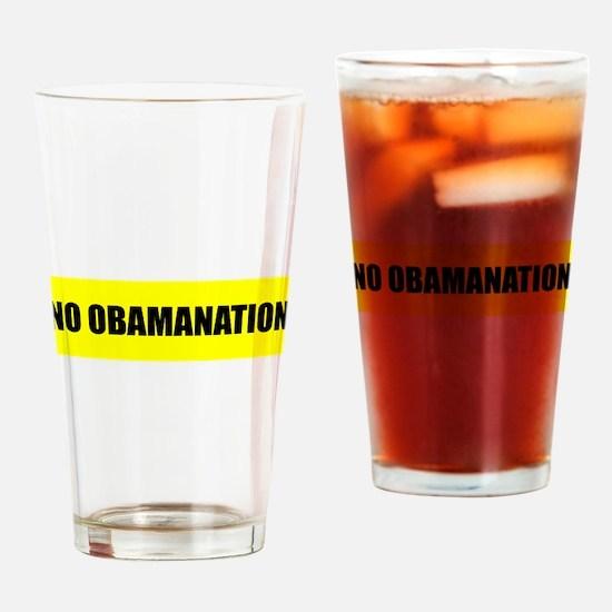 NO OBAMANATION Drinking Glass