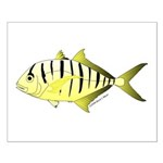 Yellow Trevally (aka Yellow Jack) fish Posters