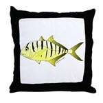 Yellow Trevally (aka Yellow Jack) fish Throw Pillo
