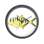Yellow Trevally (aka Yellow Jack) fish Wall Clock