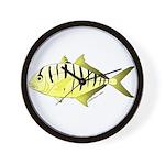 Yellow Trevally (aka Yellow Jack) fish Wall Clock