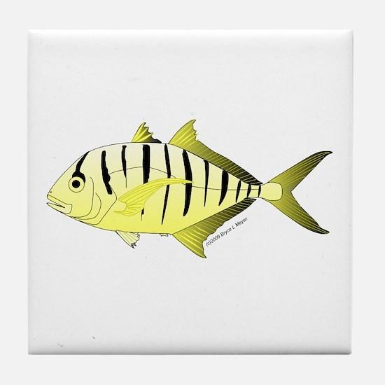 Yellow Trevally (aka Yellow Jack) fish Tile Coaste