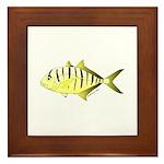 Yellow Trevally (aka Yellow Jack) fish Framed Tile