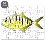 Yellow Trevally (aka Yellow Jack) fish Puzzle