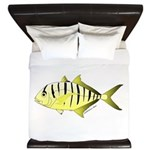 Yellow Trevally (aka Yellow Jack) fish King Duvet