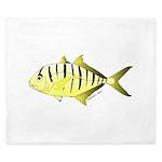 Yellow Trevally (aka Yellow Jack) fish King Duvet
