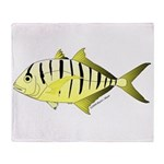 Yellow Trevally (aka Yellow Jack) fish Throw Blank