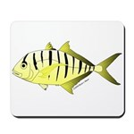 Yellow Trevally (aka Yellow Jack) fish Mousepad