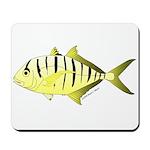Yellow Trevally (aka Yellow Jack) fish Mousepad