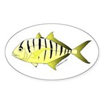 Yellow Trevally (aka Yellow Jack) fish Sticker