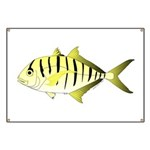Yellowtail snapper fish Banner