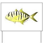 Yellow Trevally (aka Yellow Jack) fish Yard Sign