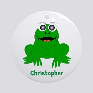 Frog Just Add Name Ornament (Round)