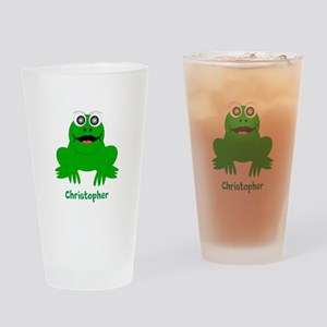 Frog Just Add Name Drinking Glass