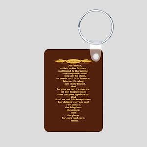 The Lords Prayer Wheat Aluminum Photo Keychain