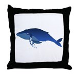 Humpback Whale (solo) Throw Pillow