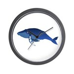 Humpback Whale (solo) Wall Clock