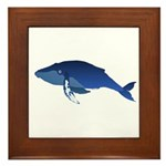 Humpback Whale (solo) Framed Tile