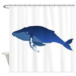 Humpback Whale (solo) Shower Curtain