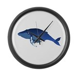 Humpback Whale (solo) Large Wall Clock
