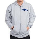 Humpback Whale (solo) Zip Hoodie