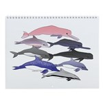 Whales and Dolphins Wall Calendar