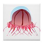 Deep Sea Jellyfish (Crossota) Tile Coaster