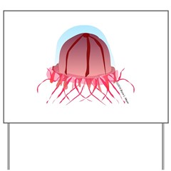 Deep Sea Jellyfish (Crossota) Yard Sign
