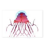 Deep Sea Jellyfish (Crossota Chillipeper) Postcard
