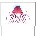 Deep Sea Jellyfish (Crossota Chillipeper) Yard Sig