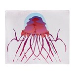 Deep Sea Jellyfish (Crossota Chillipeper) Throw Bl