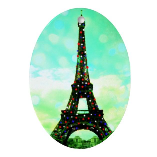 Eiffel tower christmas tree ornament by gofrance