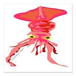 Colossal Squid (Annas Antarctica) Square Car Magne