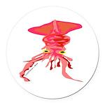 Colossal Squid (Annas Antarctica) Round Car Magnet