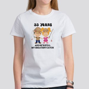 33rd Anniversary Hes Greatest Catch Women's T-Shir
