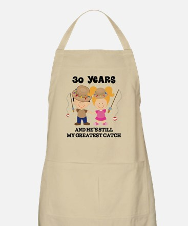 30th Anniversary Hes Greatest Catch Apron