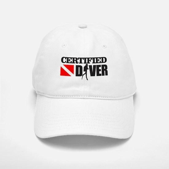 Certified Diver Baseball Baseball Baseball Cap