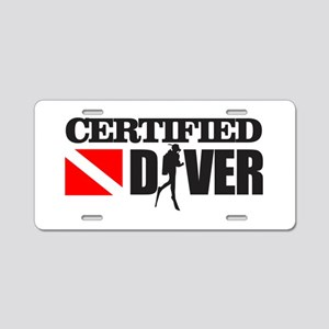 Certified Diver Aluminum License Plate
