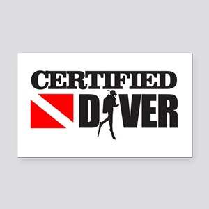 Certified Diver Rectangle Car Magnet