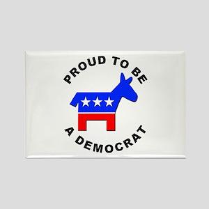 Proud Democrat Rectangle Magnet