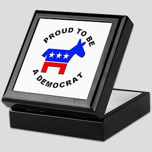 Proud Democrat Keepsake Box